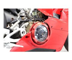 Cache carter d'embrayage Evotech Rouge Ducati Panigale 1100 V4 S 2018-2019 / Panigale 1100 V4 2018-2019