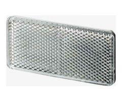 Catadioptre adgésif Hella rectangle 94x44x6,5mm Argent
