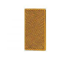 Catadioptre adhésif Hella rectangle 105x55x7,4mm Orange