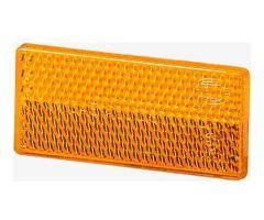Catadioptre adhésif Hella rectangle 70x31,5x5mm Orange