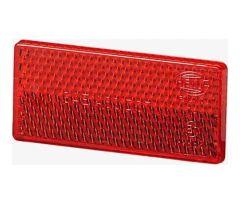 Catadioptre adhésif Hella rectangle 70x31,5x5mm Rouge