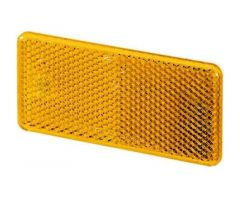 Catadioptre adhésif Hella rectangle 94x44x6,5mm Orange
