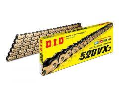Chaine DID X-RING G&B 520VX3/118 Ouverte avec attache à river