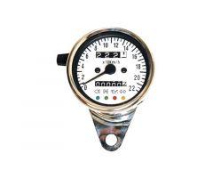 Compteur multifonction Daytona mécanique 60mm M12X1.0mm Chromé
