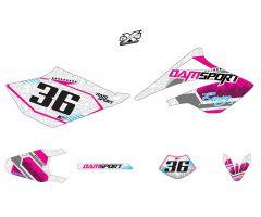 Kit déco Dam-Sport Racing Blanc Beta RR 50 2006 - 2010