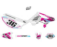 Kit déco Dam-Sport Racing Blanc Beta RR 50 2011 - 2016