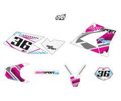 Kit déco Dam-Sport Racing Blanc CPI SMX SM 2013 / 2014