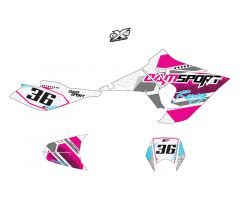 Kit déco Dam-Sport Racing Blanc DERBI DRD Evo 2009