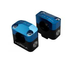 Pontets de guidon KRM pour adapter guidon de 28,6mm Bleu