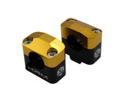Pontets de guidon KRM pour adapter guidon de 28,6mm Or
