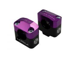 Pontets de guidon KRM pour adapter guidon de 28,6mm Violet