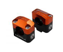 Pontets de guidon KRM pour adapter guidon de 28,6mm Orange