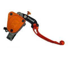 Maitre cylindre de frein avant 16x18 Accossato levier pliable bocal fixe guidon 22mm Orange