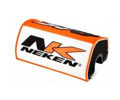 Mousse de guidon Neken 28.6mm Orange Fluo / Blanche