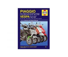 Revue technique Haynes en Anglais Piaggio NRG 50 LC DD / Vespa ET2 50 2T ...