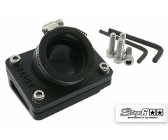 Pipe d'admission + cale Stage6 24-28mm Noir Piaggio
