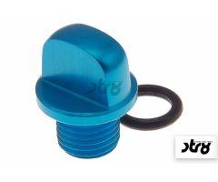 Bouchon de carter d'huile STR8 NewStyle Bleu Anodisé Minarelli Scooter
