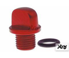 Bouchon de carter d'huile STR8 NewStyle Rouge Anodisé Minarelli Scooter