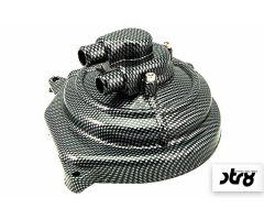 Cache carter de pompe à eau STR8 + volute Look Carbone Minarelli Horizontal LC