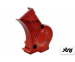 Cache carter de pompe à huile STR8 Lighty Rouge Anodisé Derbi Euro 2