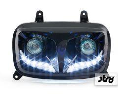 Double optique STR8 EyeLight Noir MBK Booster 2004