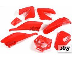 Kit carénages STR8 8 pièces Rouge Derbi Senda de 2000 à 2008