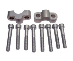 Sur-pontets de guidon LSL Aluminium 22 / 15 / 22mm Argent
