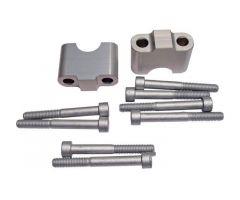 Sur-pontets de guidon LSL Aluminium LSL 22 / 35 / 22mm Argent