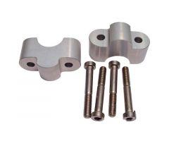 Sur-pontets de guidon LSL Aluminium LSL 28 / 25 / 28mm Argent