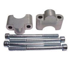 Sur-pontets de guidon LSL Aluminium LSL 28 / 30 / 28mm Argent