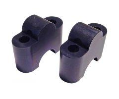 Sur-pontets de guidon Motacc Aluminium 22 / 29 / 22mm Noir